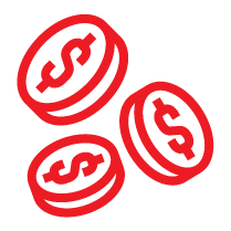 Dollar Coins Icon